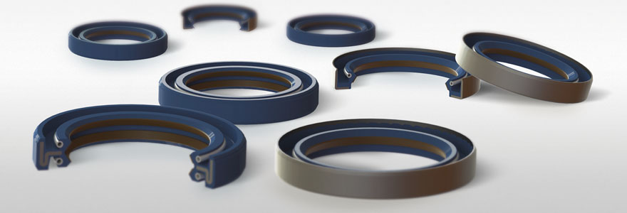 Shaft seals with PTFE coating
